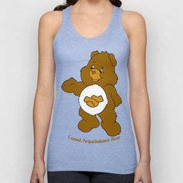 Casual Acquaintance Bear Unisex Tank Top