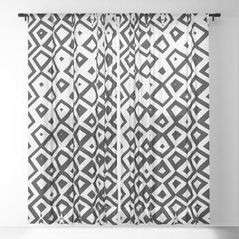 Asymmetry collection: black and white geometry Sheer Curtain