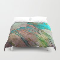 bond Duvet Covers featuring crystal bond by Stephen Leafriver
