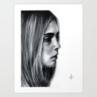 cara Art Prints featuring Cara by Siney