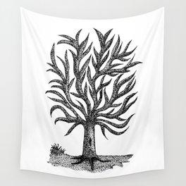Pointillism Tree Wall Tapestry