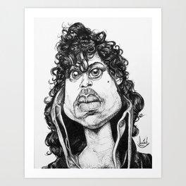 Prince of Popped Collars Art Print