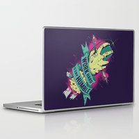 work hard Laptop & iPad Skins featuring Work Hard by Akiwa