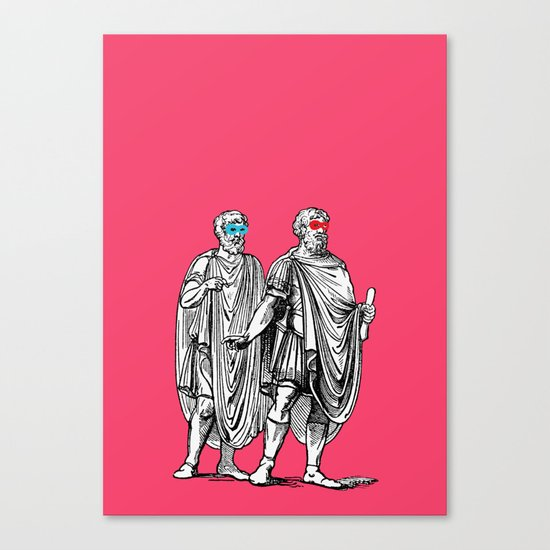 Classic men have a party Canvas Print