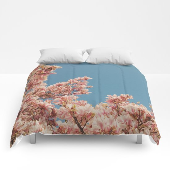 Pink Blossoms Comforters