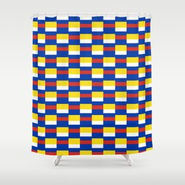Mix of flag:  Russia and ukraine Shower Curtain