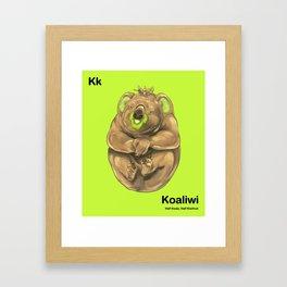 Kk - Koaliwi // Half Koala, Half Kiwifruit Framed Art Print