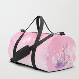 Unicorn in Pink Duffle Bag