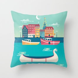 Copenhagen, Denmark Throw Pillow