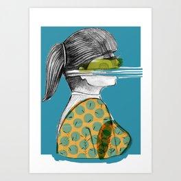 mujer en  movimiento Art Print