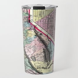 1872 Map of California and San Francisco Travel Mug