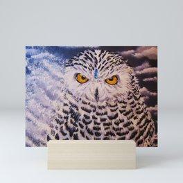Snowy Owl Spirit Mini Art Print