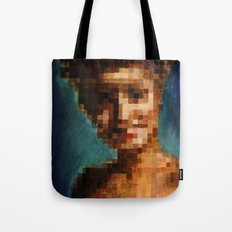 Who Pixelated Laura Palmer :; Twin Peaks Tote Bag