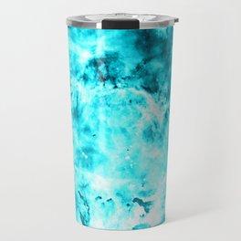 Turquoise Blue Carina Nebula Travel Mug