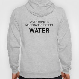 Everything in moderation except water Hoody