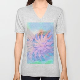 NAUTILUS CONCH SEA SHELL IMPRESSION Unisex V-Neck
