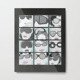 Goggles & Glasses vertical Metal Print