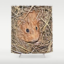 Painted Guinea Pig Baby Shower Curtain