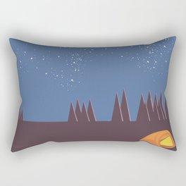 Camping under the Stars Rectangular Pillow