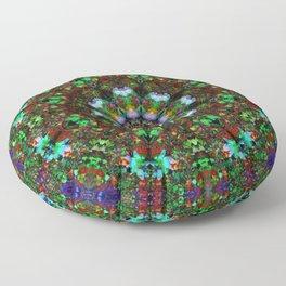 Floral Kaleidoscope  Floor Pillow