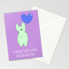 Stop bacon for you Stationery Cards