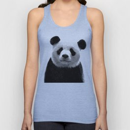 Black and white panda portrait Unisex Tank Top