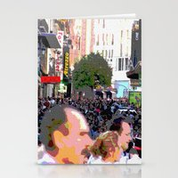 it crowd Stationery Cards featuring Crowd  by osile ignacio