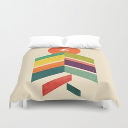 Lingering Mountains Duvet Cover
