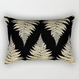 Golden Fern Art | Plant | Photography | Digital Art Rectangular Pillow