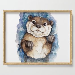 Watercolor Otter Serving Tray