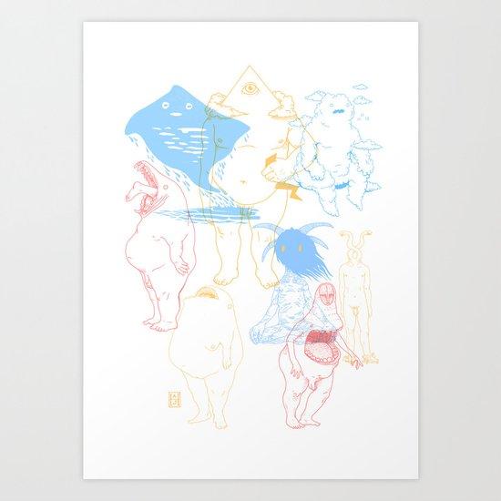 Gods of the Planets Art Print