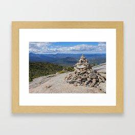 Cascade Mountain Peak Rock Cairn Keene NY Framed Art Print