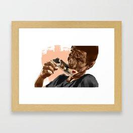 Lonely Painter Illustration Framed Art Print