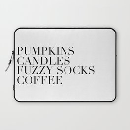 pumpkins candles fuzzy socks coffee Laptop Sleeve