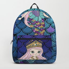 Princess of Sea   Glitter Mermaid Backpack