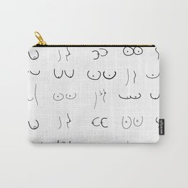 Minimal boob drawing Carry-All Pouch