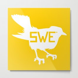 National Bird of Sweden Metal Print
