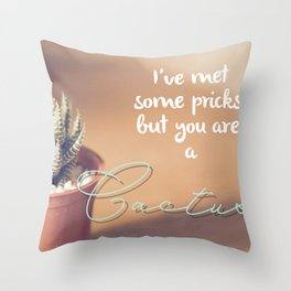 Catcus Pricks Throw Pillow