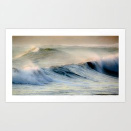 Waves at Cape Palliser, Wairarapa, New Zealand Art Print
