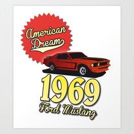 Ford Mustang 1969 Art Print
