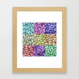 Colorful Stones Framed Art Print