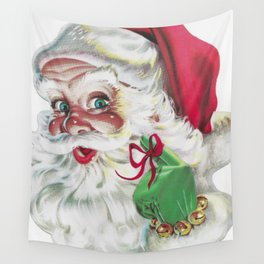 classic santa - vintage nostalgic American classic Christmas Wall Tapestry