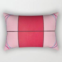 August - triple hex Rectangular Pillow