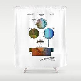Patent drawing of Baseball - Circa 1949 Shower Curtain