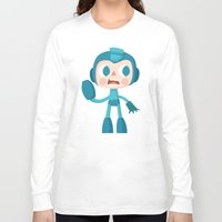 megaman Long Sleeve T-shirts featuring Megaman by Peerro