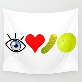 I love pickleball (wide) Wall Tapestry