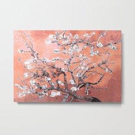 Van Gogh Almond Blossoms : Deep Peach Metal Print