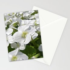white snow flowers IV Stationery Cards