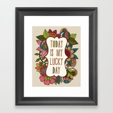 Today is my lucky day Framed Art Print