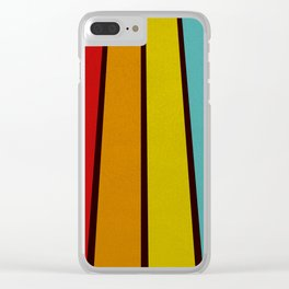 Retro Lines Clear iPhone Case